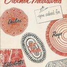 VINTAGE 50s DOILY BEDSPREAD TABLECLOTH CROCHET PATTERNS