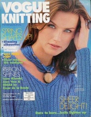 VOGUE KNITTING Spring Summer 1998 Sheer Knits Lace Shawl Ribbon