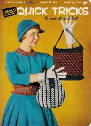 Vintage 1950s TOYS COLLARS PURSES Knit Crochet Patterns