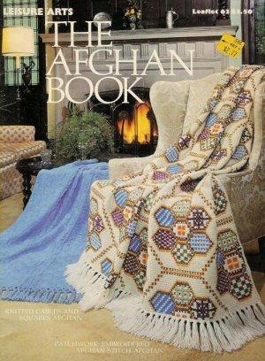 Leisure Arts 63 Afghan Book Crochet Knit Patterns Patchwork Granny 1975 VTNS