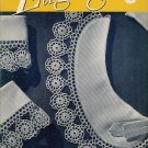 Vintage 40s EDGINGS Motif Crochet Hairpin Lace Patterns