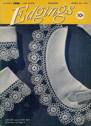 Vintage 40s EDGINGS Motif Crochet Hairpin Lace Patterns
