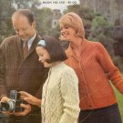 Vintage 60s ARAN PULLOVERS CARDIGANS Knitting Patterns
