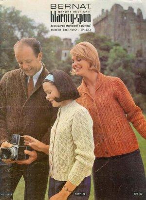 Vintage 60s ARAN PULLOVERS CARDIGANS Knitting Patterns