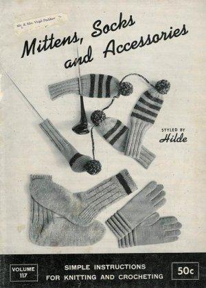 Vintage 60s SOCKS MITTENS DOG SWEATER Knitting Patterns