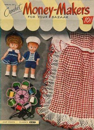 Vintage 50s GIFTS NOVELTIES DOLLS APRON Crochet Pattern