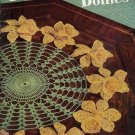 Vtg Crochet Patterns Floral Doilies Doily Daffodil Daisy Rose Pansy 1949