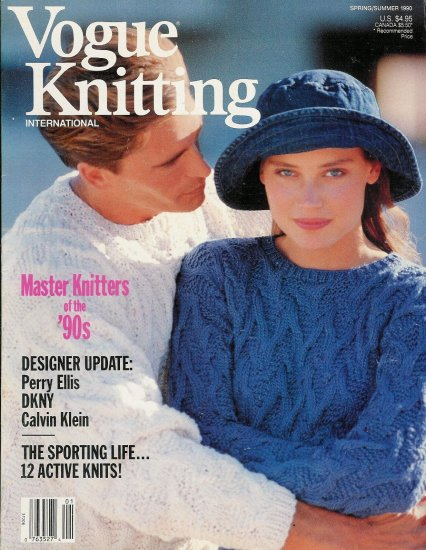 VOGUE KNITTING Spring Summer 1990 Eyelet Lace Mosaic Ethnic Designs