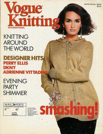 VOGUE KNITTING Winter 1990-91 Holiday Designs Folk Knits