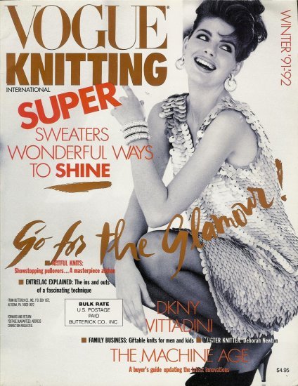 VOGUE KNITTING Winter 1991-92 Evening Holiday Entrelac