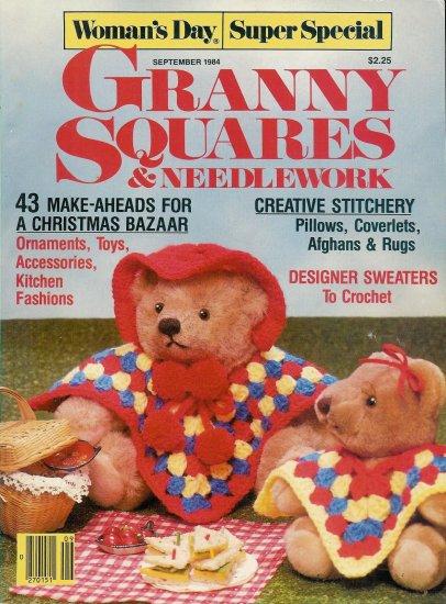 Vintage 1984 Woman's Day Granny Squares Crochet Magazine