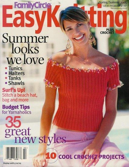 Family Circle Easy Knitting Crochet Spring Summer 2005 Tunics Halters Tanks Shawls