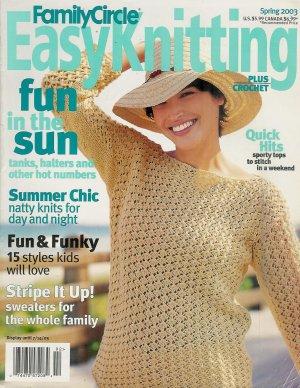 Family Circle Easy Knitting Crochet Spring 2003 Beach Halter Dress Skirt Birthday Cake