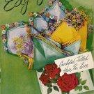 Edgings Patterns Crochet Tatting Hairpin Lace Motifs Flower Towel Vintage 1951
