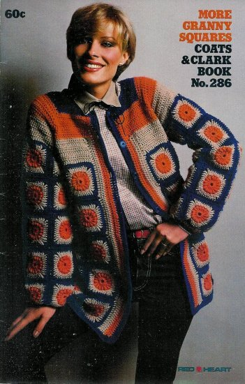 Vintage Coats and Clarks Granny Squares Crochet Patterns Booklet