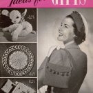 VINTAGE 40s IDEAS FOR GIFTS LAMB CURTAIN PULLS CROCHET PATTERNS