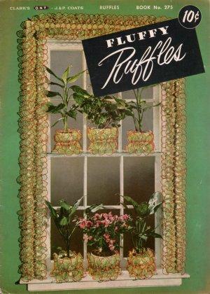 VINTAGE 50s FLUFFY RUFFLES APRON COLLARS DOILY EDGINGS KITCHEN CROCHET PATTERNS