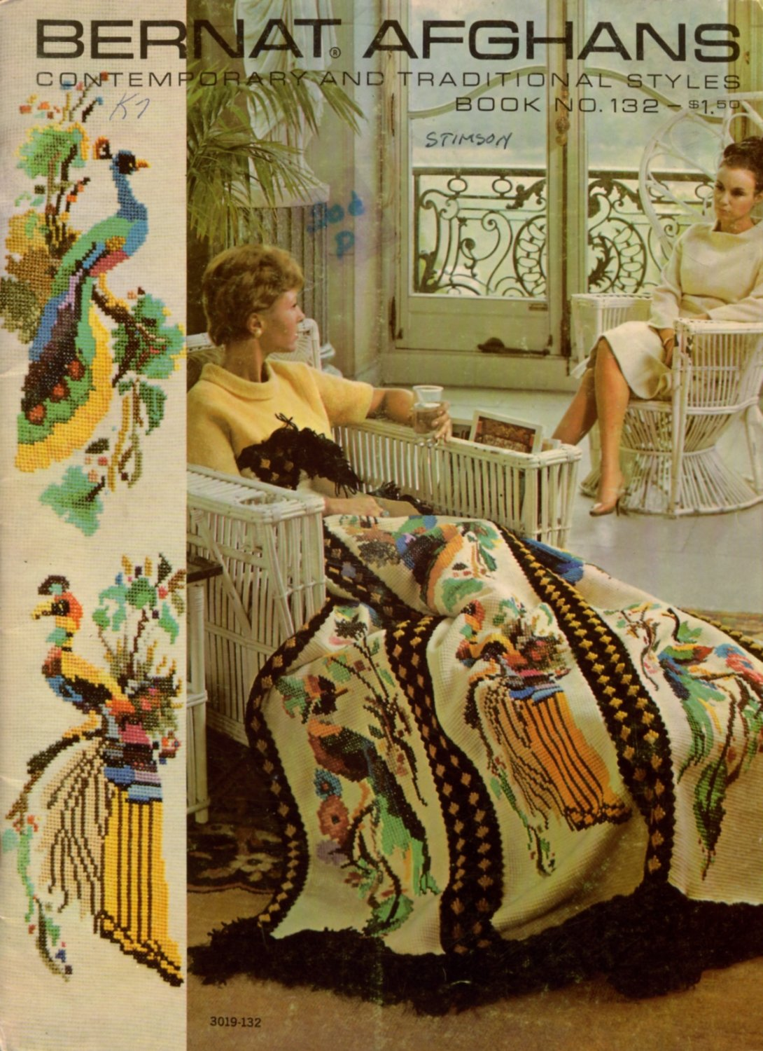 Vintage 60s Bernat AFGHANS Contemporary Traditional Styles 21 Knit Crochet Patterns
