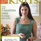 INTERWEAVE KNITS Summer 2006 Lace Top Icarus Shawl Tote Bag Camisole Felted Cap