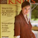 INTERWEAVE KNITS Winter 2006 Shawl Sweater Beret Hoodie Thrum Mittens Stocking