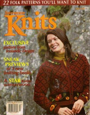 INTERWEAVE KNITS Fall 1999 Folk Sweaters Aran Duffle Coat Irish Shawl Ute Socks