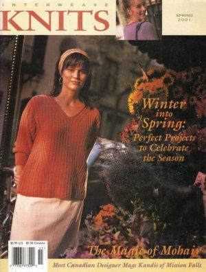 INTERWEAVE KNITS Spring 2001 Latvian Socks Lace Peignoir Grand Plan Hat Patterns