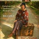 INTERWEAVE KNITS Fall 2001 Aran Fair Isle Sweaters Lace Socks Floral Tote Mitts