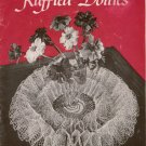 VINTAGE 1940s RUFFLED DOILIES DOILY ROSE WATERFALL WHIRLPOOL CROCHET PATTERNS