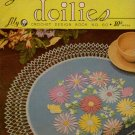 Crochet Patterns Table Doilies Lily Mills Butterfly Flower Place Mat Centerpiece 1951