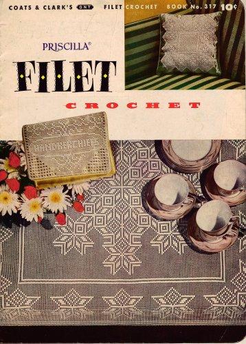 Vtg Filet Crochet Patterns Edgings Collar Doily Place Mat Eagle 1955