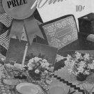 Vtg Crochet Patterns Prize Winners Curtains Doily Chair Motif Edgings 1949