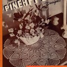 Vintage Pineapple Crochet Patterns Doilies Apron Tablecloth Bedspread 1946
