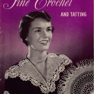 Vtg Crochet Tatting Patterns Doily Collar Edgings Butterfly Applique 1949