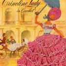 Vtg Crochet Patterns Crinoline Lady Doily Edgings Applique Bridge Set 1949