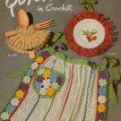 Crochet Patterns Hat Bag Purse Apron Slippers Basket Quick Tricks 1950