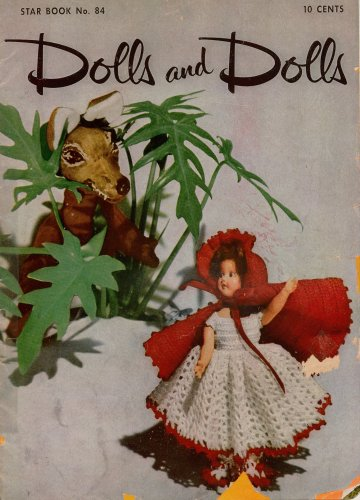 Crochet Patterns Dolls Bride Bridesmaid Jack Jill Costume Storybook 1951