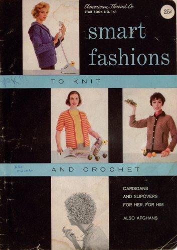 Knitting Crochet Patterns Smart Fashions Cardigan Bolero Afghans 1960s