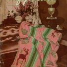 Knitting Crochet Patterns Afghans Coats Clark Book 165 Argyle Plaid 1941