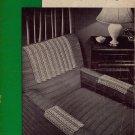 Vintage Crochet Patterns Chair Sets Doily Flower Motif Rose Filet Lace 1945