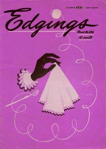 Crochet Patterns Edgings Hairpin Handkerchief Lingerie Pineapple 1947