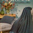 Knitting Crochet Patterns Afghans Pillows Motifs Pineapple Chevron 1954 VTNS
