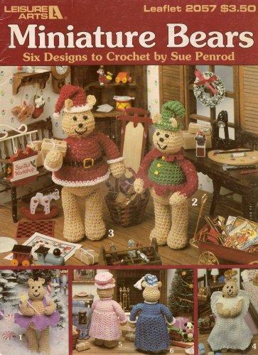 Miniature Bears Holiday Crochet Patterns Leisure Arts 2057 Angel Santa 1991