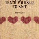Knitting Patterns Teach Yourself Beginner Hat Scarf Slippers Baby Afghan 1992