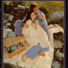 Knitting Crochet Patterns Brunswick Afghans Forever Long Skirt Aran 1976