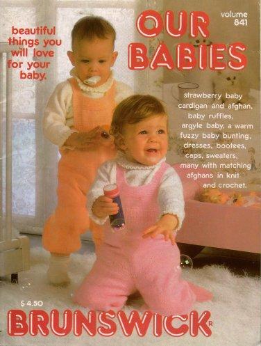 Knit Crochet Patterns Brunswick Our Babies Christening Dress Afghan 1984 VTNS