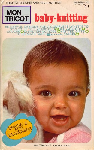 Mon Tricot Baby Knitting Crochet Patterns Christening Gown Gifts 1972
