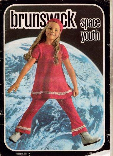 Brunswick Space Youth Knitting Patterns Child Dress Tights Beret 1970