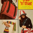 Columbia Minerva Crochet Patterns This n That Rug Yarn Pot Holders Hat 1976