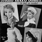 Knitting Crochet Patterns Hat Scarf Stoles Snood Hairpin Bear Brand 1968 VTNS