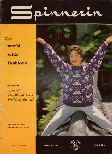 Spinnerin Knitting Crochet Patterns World Wide Fashions Sweaters 6-46 1962